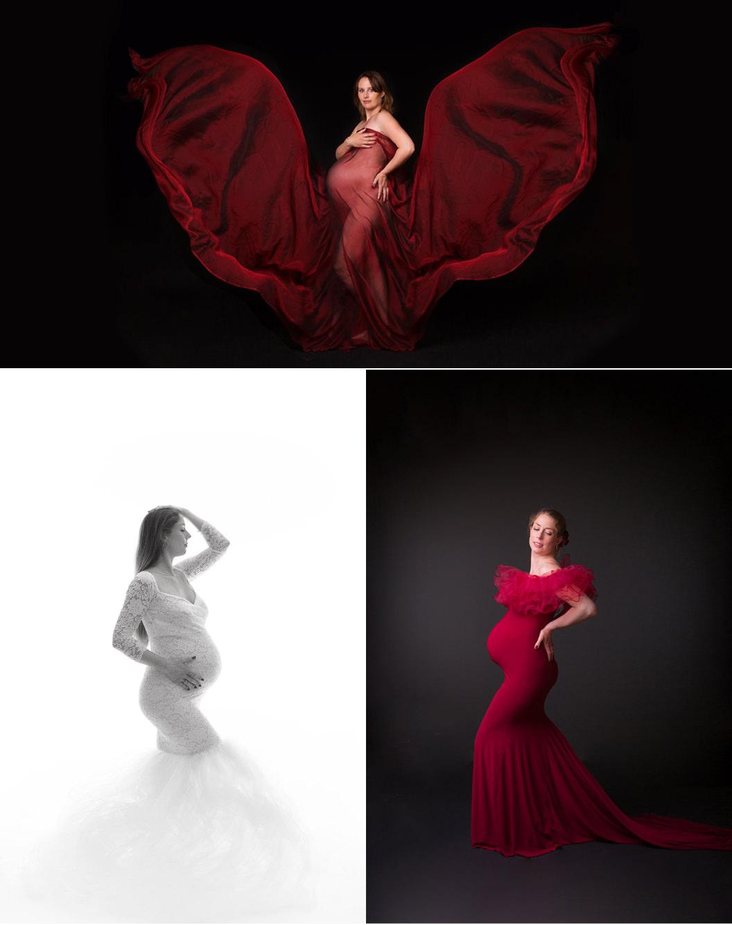 Les 2 Photographes : Séance grossesse en studio